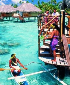 BEST SELLER 7-charming resorts MOOREA , BORA BORA, rangiroa OVERWATER