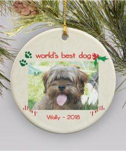 Dog Photo Christmas Ornament