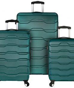 Elite Luggage Omni 3 Piece Hardside Spinner Luggage Set Teal - Elite Luggage Luggage Sets