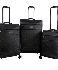 Original Penguin Luggage Original 3 Piece Expandable Spinner Luggage Set Mini Pete - Original Penguin Luggage Luggage Sets