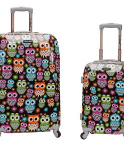 Rockland Luggage Traveler 2 Piece Hardside Luggage Set OWL - Rockland Luggage Luggage Sets