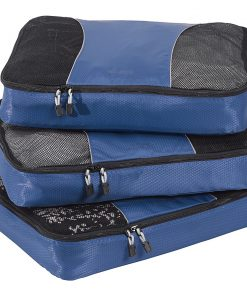 eBags Large Packing Cubes - 3pc Set - Denim