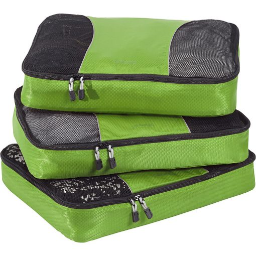 eBags Large Packing Cubes - 3pc Set - Grasshopper