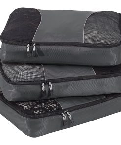 eBags Large Packing Cubes - 3pc Set - Titanium