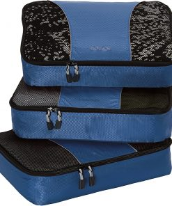 eBags Medium Packing Cubes - 3pc Set - Denim