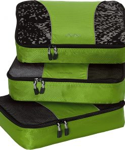 eBags Medium Packing Cubes - 3pc Set - Grasshopper