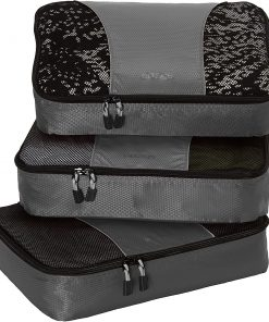 eBags Medium Packing Cubes - 3pc Set - Titanium