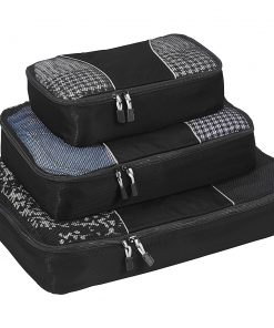 eBags Packing Cubes - 3pc Set - Black