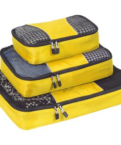 eBags Packing Cubes - 3pc Set - Canary