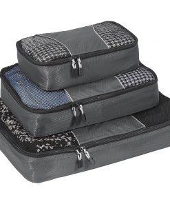 eBags Packing Cubes - 3pc Set - Titanium