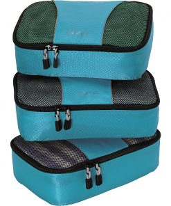 eBags Small Packing Cubes - 3pc Set - Aquamarine