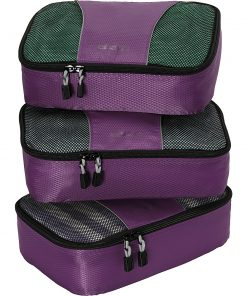 eBags Small Packing Cubes - 3pc Set - Eggplant