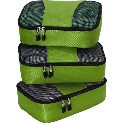 eBags Small Packing Cubes - 3pc Set - Grasshopper