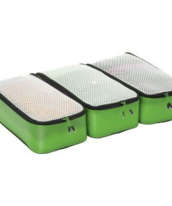 eBags Ultralight Packing Cubes - Slim 3pc Set Green - eBags Travel Organizers