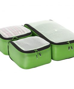 eBags Ultralight Packing Cubes - Small 3pc Set Green - eBags Travel Organizers