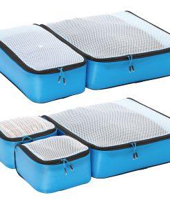 eBags Ultralight Packing Cubes - Super Packer 5pc Set Blue - eBags Travel Organizers