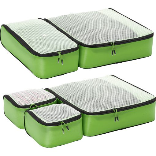 eBags Ultralight Packing Cubes - Super Packer 5pc Set Green - eBags Travel Organizers