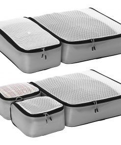 eBags Ultralight Packing Cubes - Super Packer 5pc Set Grey - eBags Travel Organizers
