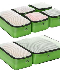 eBags Ultralight Packing Cubes - Ultimate Packer 7pc Set Green - eBags Travel Organizers