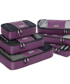 eBags Value Set: Packing Cubes + Slim Packing Cubes Eggplant - eBags Travel Organizers