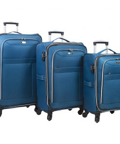 Dejuno Aria 3 Piece Softsided Lightweight Spinner Luggage Set Teal - Dejuno Luggage Sets