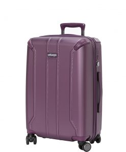 eBags eTech 3.0 Hardside Carry-On Spinner Metallic Purple - eBags Hardside Carry-On