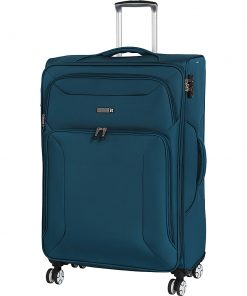 "it luggage Megalite Fascia 31.5"" Expandable Checked Spinner Luggage - eBags Exclusive Moroccan Blue - it luggage Softside Checked"