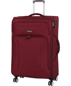 "it luggage Megalite Fascia 31.5"" Expandable Checked Spinner Luggage - eBags Exclusive Ruby Wine - it luggage Softside Checked"