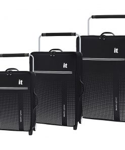 it luggage World's Lightest Vitalize 3 Piece Softside Luggage Set Black - it luggage Luggage Sets