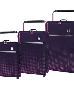 it luggage World's Lightest Vitalize 3 Piece Softside Luggage Set Gothic Grape - it luggage Luggage Sets