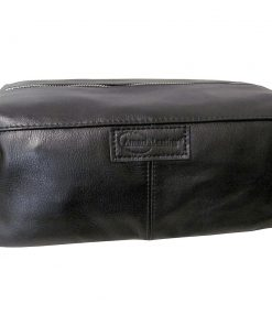 AmeriLeather Cosmetic/Travel Accessory Bag Black - AmeriLeather Toiletry Kits