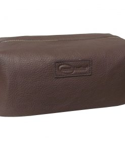 AmeriLeather Cosmetic/Travel Accessory Bag Brown - AmeriLeather Toiletry Kits