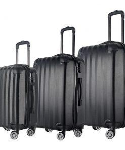 Brio Luggage Hardside Spinner Luggage Set #1331 Black - Brio Luggage Luggage Sets