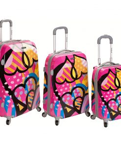 Rockland Luggage 3-Piece Reserve Hardside Luggage Set Love - Rockland Luggage Luggage Sets