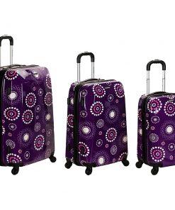 Rockland Luggage 3-Piece Reserve Hardside Luggage Set Purple Pearl - Rockland Luggage Luggage Sets
