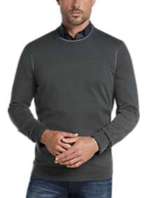 JOE Joseph Abboud Charcoal Crew Neck Sweater