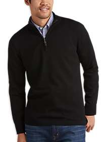 Joseph Abboud Black Merino Wool Sweater