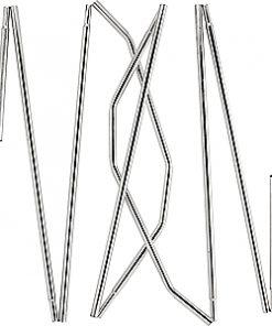 Cabela's Deluxe Alaknak Vestibule Replacement Poles (9.5 X 9.5)