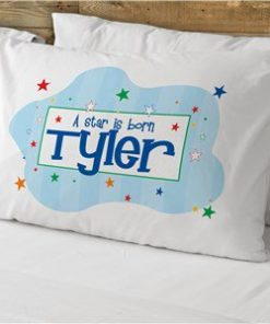 "New Baby ""A Star Is Born"" Personalized Pillowcase"