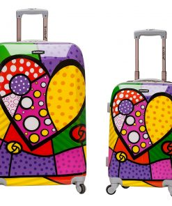 Rockland Luggage Traveler 2 Piece Hardside Luggage Set HEART - Rockland Luggage Luggage Sets