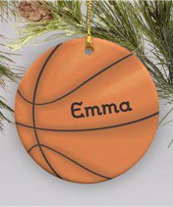 Basketball Personalized Ornament Ceramic