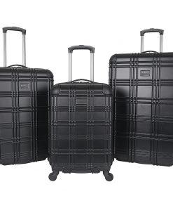 Ben Sherman Luggage Nottingham 3 Piece Hardside Spinner Luggage Set Black - Ben Sherman Luggage Luggage Sets