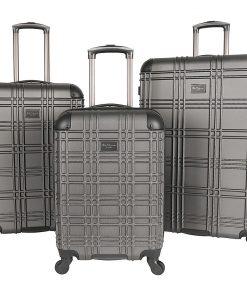 Ben Sherman Luggage Nottingham 3 Piece Hardside Spinner Luggage Set Charcoal - Ben Sherman Luggage Luggage Sets