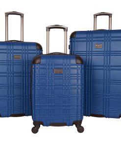 Ben Sherman Luggage Nottingham 3 Piece Hardside Spinner Luggage Set Cobalt Blue - Ben Sherman Luggage Luggage Sets