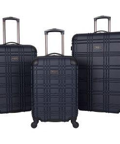 Ben Sherman Luggage Nottingham 3 Piece Hardside Spinner Luggage Set Navy - Ben Sherman Luggage Luggage Sets