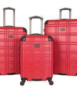 Ben Sherman Luggage Nottingham 3 Piece Hardside Spinner Luggage Set Red - Ben Sherman Luggage Luggage Sets