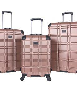 Ben Sherman Luggage Nottingham 3 Piece Hardside Spinner Luggage Set Rose Gold - Ben Sherman Luggage Luggage Sets