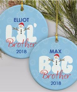 Big Brother - Lil Brother Snowman Christmas Ornament