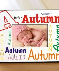 A is For Personalized Picture Frame