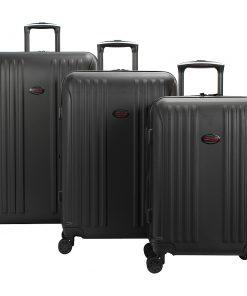 American Flyer Moraga 3 Piece Expandable Hardside Spinner Luggage Set Black - American Flyer Luggage Sets